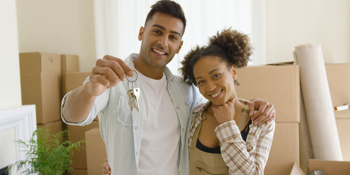 young homeowner couple