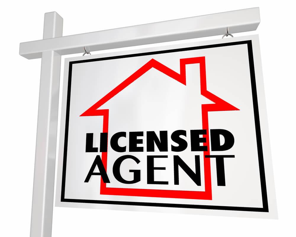 licensed agent signpost