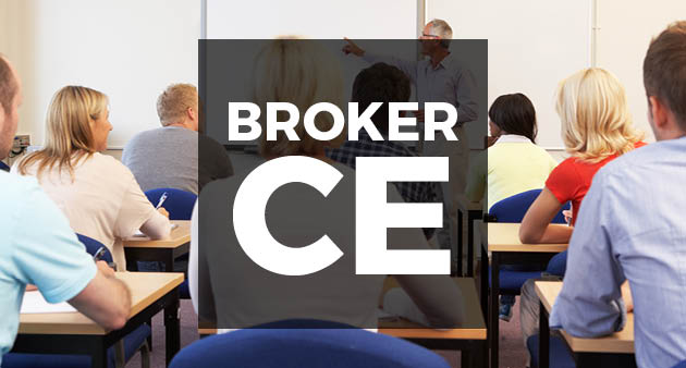 broker CE class image with people facing the lecturer
