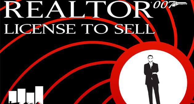 A gentleman in suit, with the words Realtor-007