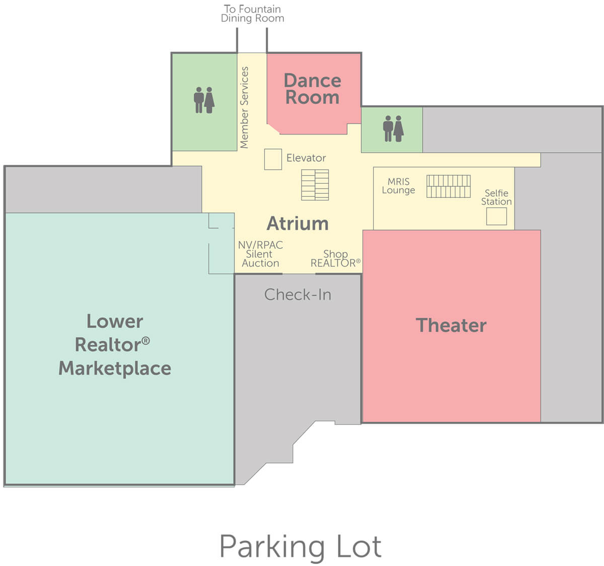 Convention floorplan for level 1