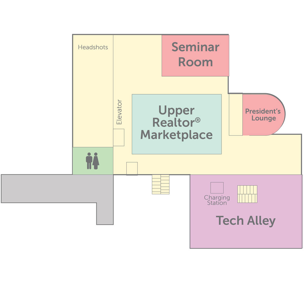 Convention floorplan for level 2