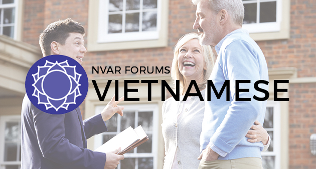 Vietnamese Forum logo over photo