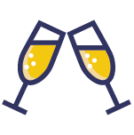 champagne toast icon