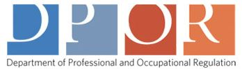 Department of Professional and Occupational Regulations logo