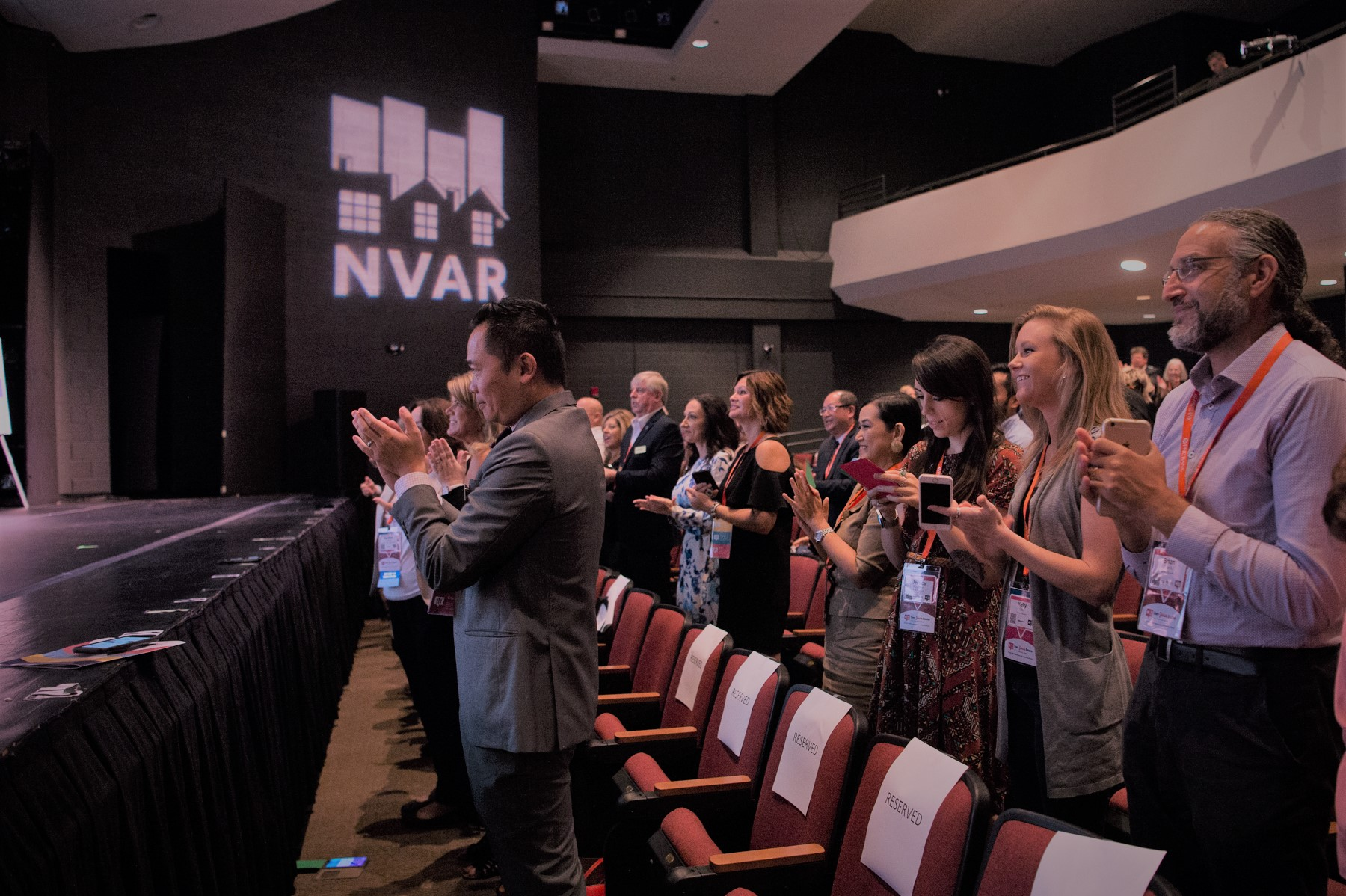 clapping at NVAR event