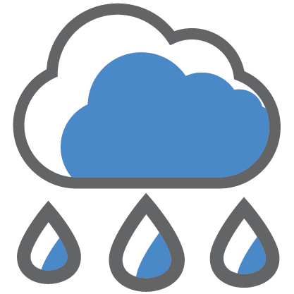 Icon of rain clouds