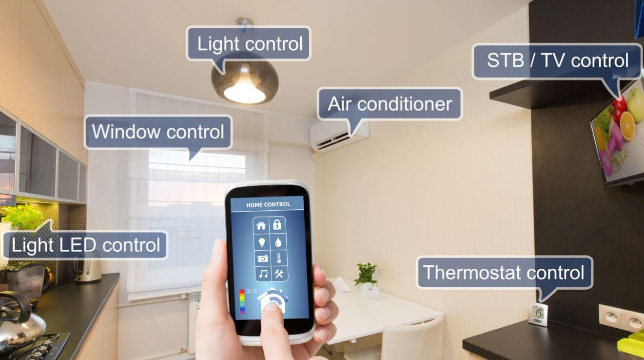 smart home app on a cellphone