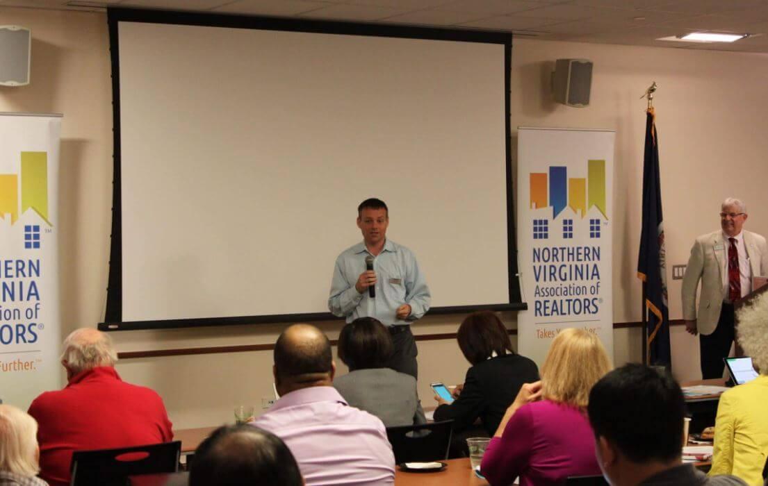 teaching a course at NVAR Fairfax