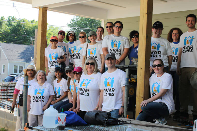 nvar staff and member at nvar cares voluntary work