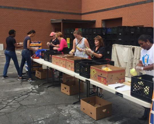 Realtors taking part in hunger relief charity